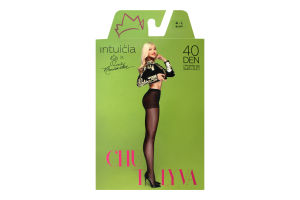 Колготки Intuicia Chutlyva 40den 4-L чорні