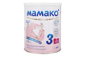 Смесь молочная сухая для детей от 12мес Premium 3 Mamako ж/б 400г