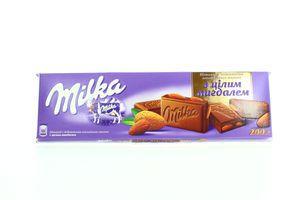 Шоколад Kraft Milka c добавл альпийского мол с целым миндалем 200г