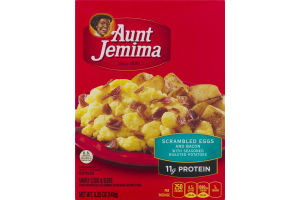 Aunt Jemima Scrambled Eggs and Bacon with Season Roasted Potatoes