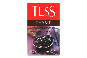Чай черный байховый листовой с растительными компонентами и ароматом лимона и чабреца Thyme Tess к/у 90г