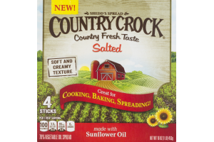 Country Crock Vegetable Oil Spread Sticks Salted - 4 CT