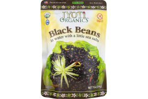 Jyoti Organics Black Beans in Water with a Little Sea Salt