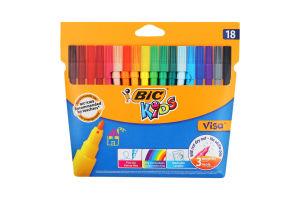 Фломастери кольорові Visa BiC Kids 18шт