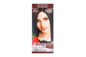 Маска для волос тонирующая Рябина TON oil mask Темный каштан №043 Acme Color 30мл