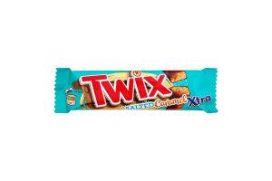 Печиво пісочне з солоною карамеллю в молочному шоколаді Xtra Twix м/у 2х37.5г