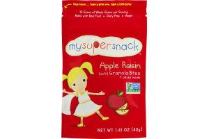 MySuperSnack Apple Raisin Granola Bites