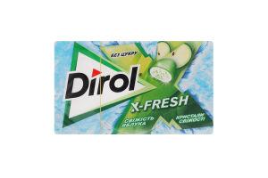 Резинка жевательная без сахара Свежесть яблока X-Fresh Dirol к/у 18г