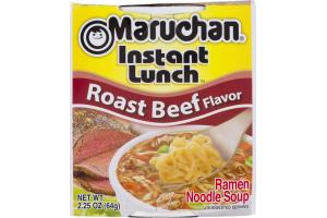 Maruchan Instant Lunch Roast Beef Flavor Ramen Noodle Soup