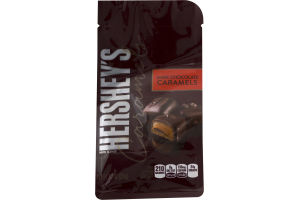 HERSHEY'S Caramels in Dark Chocolate Stand-Up Bag, 7.2 Ounces