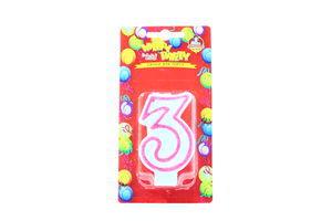 Свічки Happy Party Веселе свято для торту глазуров рожева 3