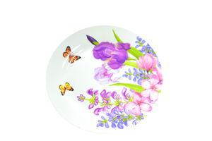 Тарелка мелкая Алые цветы Oselya Ukraine 23см