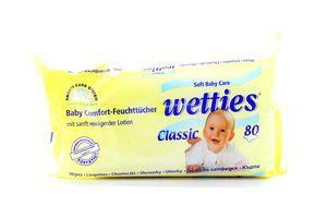 Салфетки детские влажные Classic Wetties 80шт