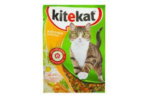 Корм сухой для взрослых котов Курочка аппетитная Kitekat м\/у 1кг