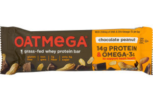 Oatmega Grass-Fed Whey Bars Chocolate Peanut Crisp