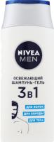 Шампунь-гель освіжаючий 3в1 Nivea Men 250мл