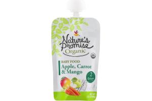 Nature's Promise Organic Baby Food Apple, Carrot & Mango 6m+