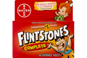 Flintstones Complete Children's Multivitamin Supplement Chewable Tablets - 60 CT