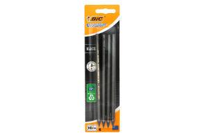 BIC олівець пласт. з гумкою Эколюшен чорний