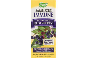 Nature's Way Sambucus Immune Bio-Certified Elderberry Natural Syrup