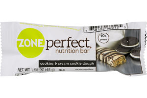 Zone Perfect Nutrition Bar Cookies & Cream Cookie Dough