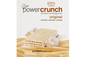 Power Crunch Protein Energy Bar Original French Vanilla Creme - 12 CT