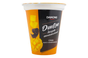Десерт 5.4% кисломолочный Манго-черный шоколад Даніссімо ст 270г
