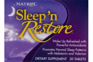 Natrol Sleep 'n Restore Dietary Supplement Tablets - 20 CT