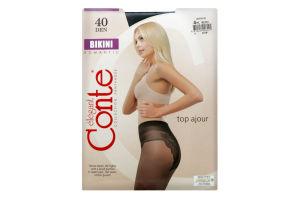 Колготки жіночі Conte elegant Bikini №8С-47СП 40den 4-L nero