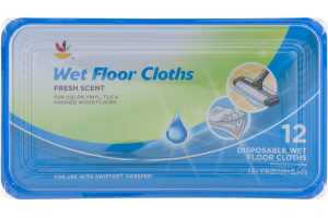 Ahold Wet Floor Cloths Fresh Scent - 12 CT