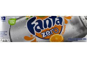 Fanta Zero Orange Soda - 12 PK