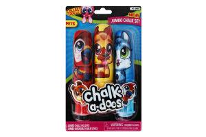 Набір крейди кольорової для малювання з утримувачем №13698 Chalk-a-doos Scentos 1шт