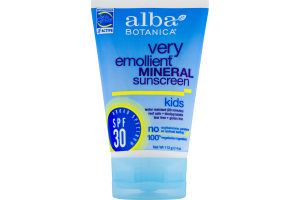 Alba Botanica Very Emollient Mineral Sunscreen Kids SPF30