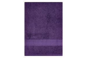 Полотенце махровое фиолетовое 70х140см 400г/м2 Саффран 1шт
