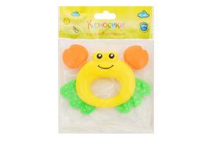 Іграшка-брязкальце для дітей від 3міс №Б382 Крабик Курносики 1шт