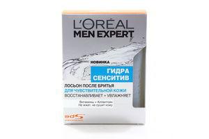 Лосьон после бритья для чувствительной кожи Гидра сенситив Men expert L`Oreal 100мл