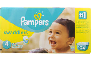 Pampers Swaddlers Diapers Size 4 (22-37 lb) - 104 CT