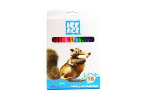 Олівці Ice Age кольорові 18шт
