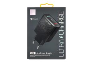Пристрій зарядний чорний 18W QC3.0 Luxe Cube 1шт