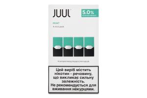 Картридж для електронної системи доставки нікотину Mint Juul 4шт