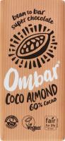 Шоколад 60% cacao чорний Coco almond Ombar м/у 70г