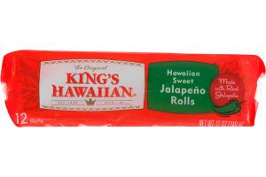 King's Hawaiian Sweet Jalapeno Rolls - 12 CT