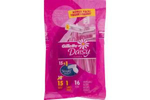 Gillette Daisy Classic +1 Simply Venus Disposable Razors - 16 CT