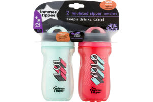 Tommee Tippee Insulated Sipper Tumblers 12m+ - 2 CT