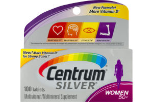 Centrum Silver Multivitamin Women 50+ - 100 CT
