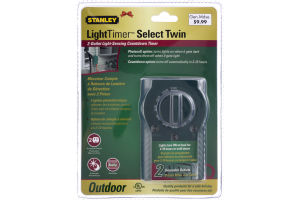 Stanley Light Timer Select Twin Outdoor