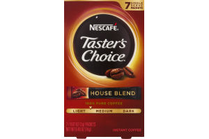 Nescafe Taster's Choice Instant Coffee House Blend - 7 CT