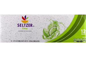 Ahold Seltzer Lime Flavored Seltzer Water - 12 CT