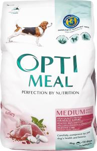 Корм д/собак Optimeal средних пород индейка сухой