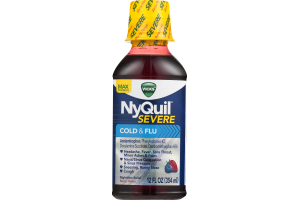 Vicks NyQuil Severe Cold & Flu Nighttime Relief Berry Flavor